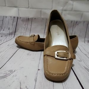 Maripe taupe loafers sz 8M